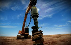 excavator-auger