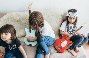 Kids Green Guitar