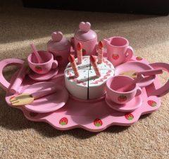 wooden kids tea set