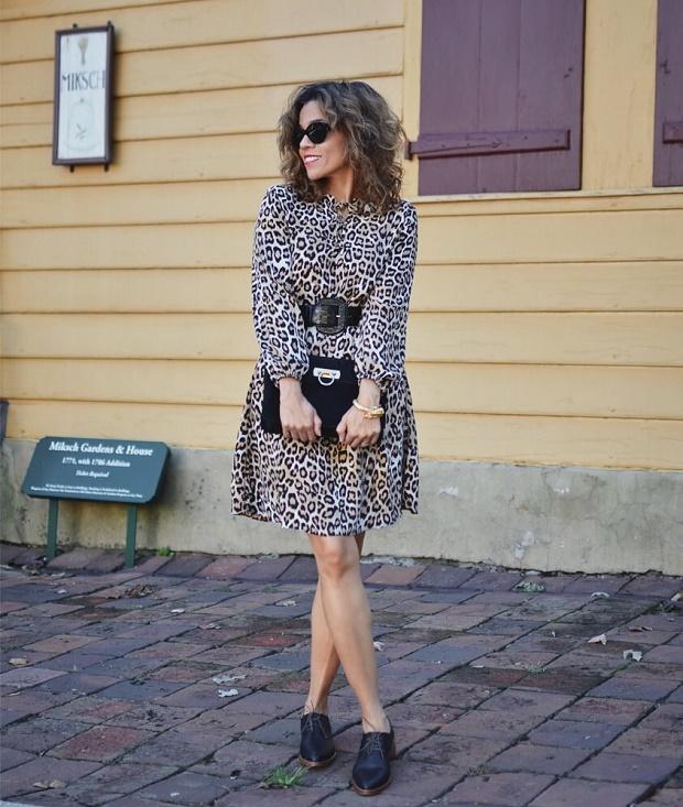 leopard dress for older woman
