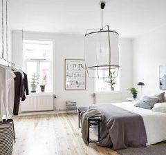 scandinavian style bed