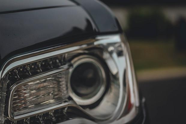 Black Car Headlight