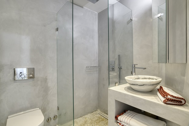 bathroom with shower sink