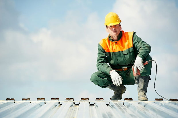 construction worker wearing work uniform