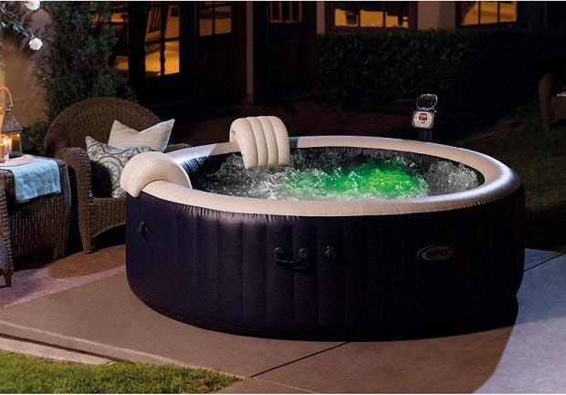 inflatable heated hot tub