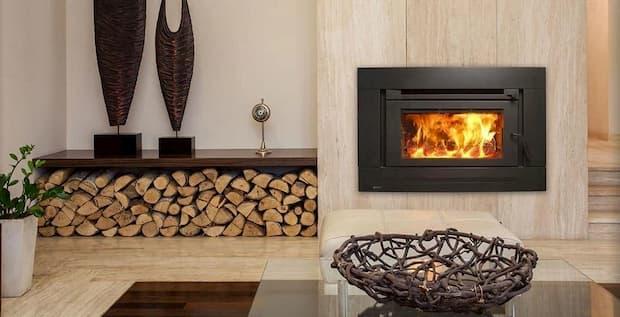 inbuild fireplace indoor