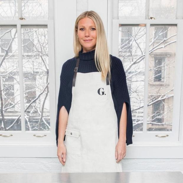 white chef apron