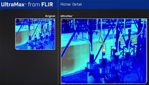 The resolution of the camera FLIR