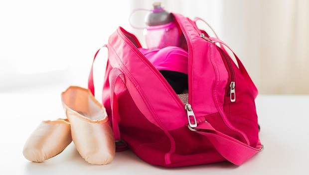 Dance bag and ballet shoes