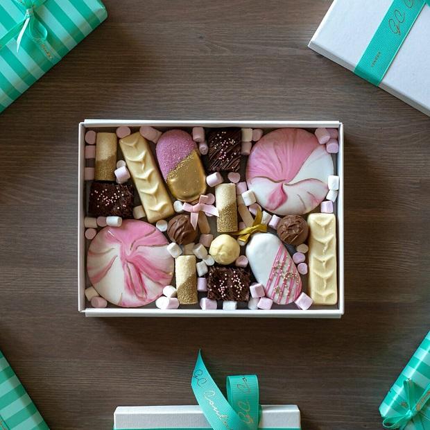 luxury box of sweets