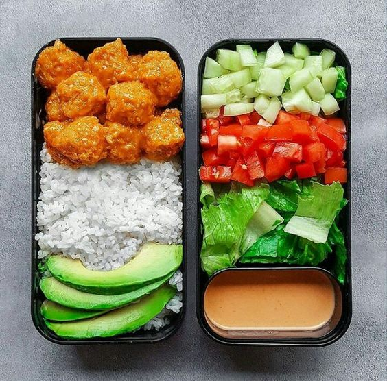 bento boxes with food
